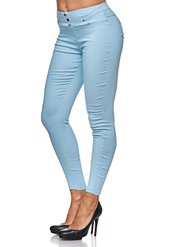 Da Azzurro Con D2123 Treggings Jeggings Rivetti Donna Jeans Arizonashopping Hosen Pantaloni HEwqxn6A