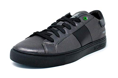 Womsh Sneakers In Unisex Made Argento 27 Pelle Kingston nero Italy qrREAr