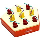Skola Toys Tic Tac Toe Game - Play Noughts and Crosses in Early Years - Wooden Educational Learning Toy for 4 to 8 Year Olds