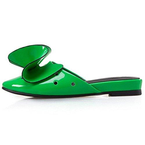 COOLCEPT Damen Niedrige Sommer Slides Green