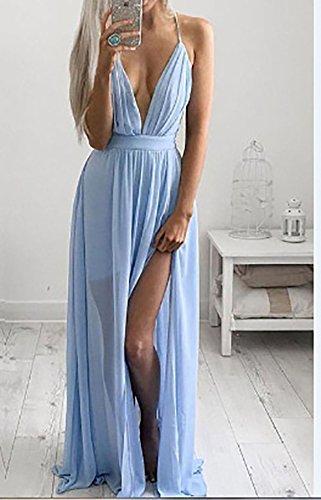 3dca8124d89 Manches Chic Plage Transparent Longues Femme Robes Ouverte Le D été Col  Sans Sur De Soirée ...