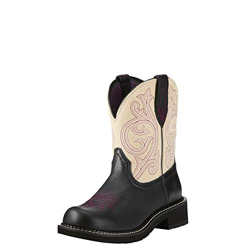 ARIAT Fatbaby Heritage Western Boot Black Carbon Size 8 B/Medium US
