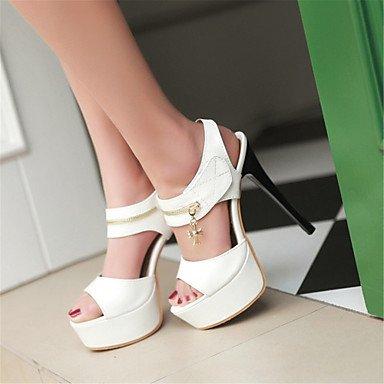 LvYuan Mujer-Tacón Stiletto-Zapatos del club Innovador-Sandalias-Fiesta y Noche Vestido-Cuero Patentado-Negro Rojo Blanco Black