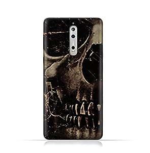 Nokia 8 TPU Silicone Case With Dark Skeleton Pattern