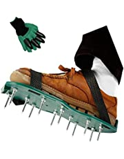 BRIMSTONE Lawn Aeration Shoes, Sandals, Manual AERATORS with Hook and Loop Straps, Aeration with 4.5 cm Nails