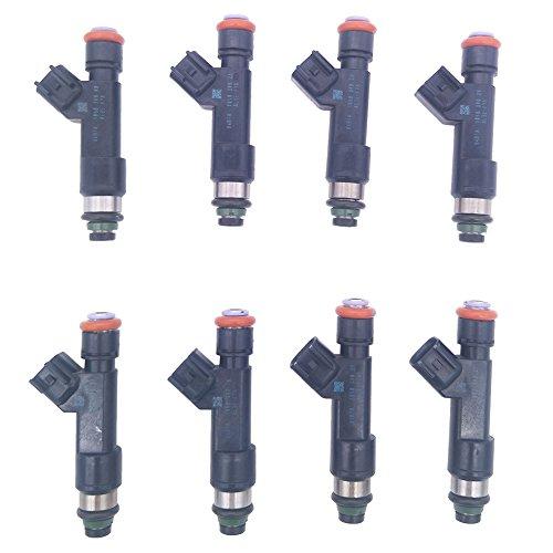 JESBEN 8pcs Set Fuel Injectors 6 Holes Fit For F-150 F-250 F-350 Super Duty 6.2L-V8 2011-2015 AL3E-F7A AL3E-9F593-F7A (2014 Ford F 150 Raptor Svt 6-2 L)