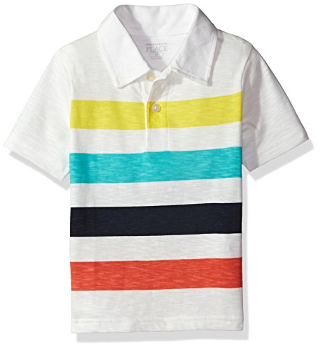 The Childrens Place Baby Boys His Lil Multi Stripe Polo