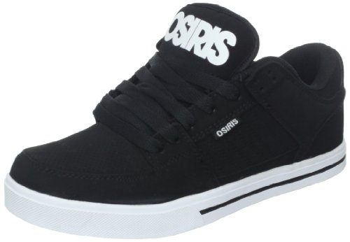 Osiris Men's Protocol Skate Shoe,Black/Black/White,8.5 M US