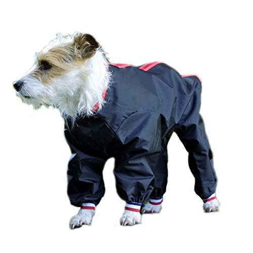 Cosipet Pants Suit Dog Coat (30in) (Black) by Cosipet