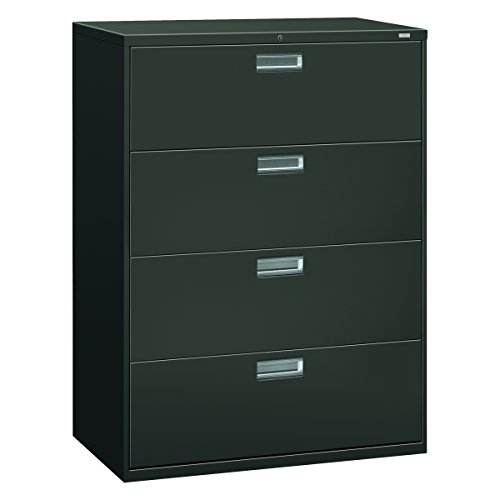 HON 694LS 600 Series 42-Inch by 19-1/4-Inch 4-Drawer Lateral File, (42in Wide Charcoal)