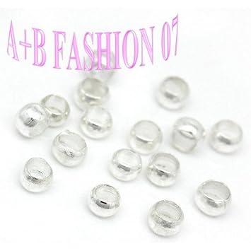 3000 Versilbert Quetschperlen Crimp Perlen Beads
