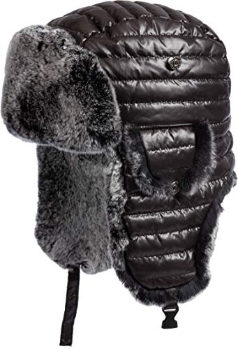 Overland Sheepskin Co Quilted Trapper Hat with Rex Rabbit Fur Lining