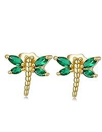 Skyjewelry Animal Shaped 18k Gold Plated Children Girls Lovelry Stud Earrings