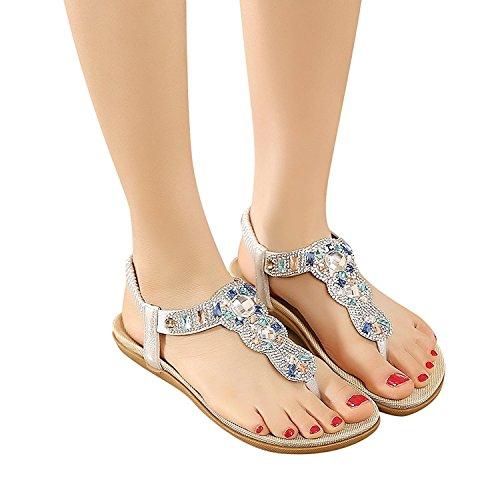 Para Zapatillas Lazutom Mujer Por Plata Piel Sintética De Casa Estar RH1Hnfq0