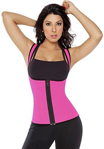 Ausom Womens Workout Neoprene Slimming Latex Waist Girdle Cincher Trainer Corset Tank Top Vest Hot Sweat Shirt Zipper Body Shapers Best Shapewear Sauna Weight Loss