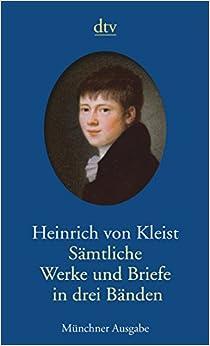 Book Samtliche Werke und Briefe Munchner Ausgabe: Auf der Grundlage der Brandenburger Ausgabe herausgegeben von Roland Reuß und Peter Staengle