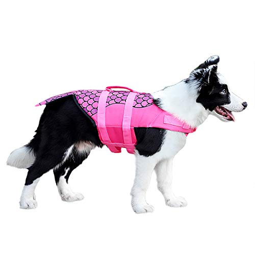Dog Clothing & Shoes Pet Dog Life Jacket Safety Clothes Life Vest Collar Harness Saver Pet Dog Swimming Preserver Summer Swimwear Mermaid Shark Harmonious Colors