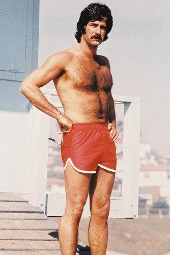 (Sam Elliott Lifeguard Hunky Barechested Portrait 24x36 Poster)