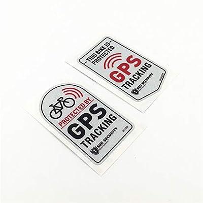 Langersun 2PCS Car Stickers Warning GPS Tracker Alarm Bike Protected Motorbike Bumper 7x4cm (C): Automotive