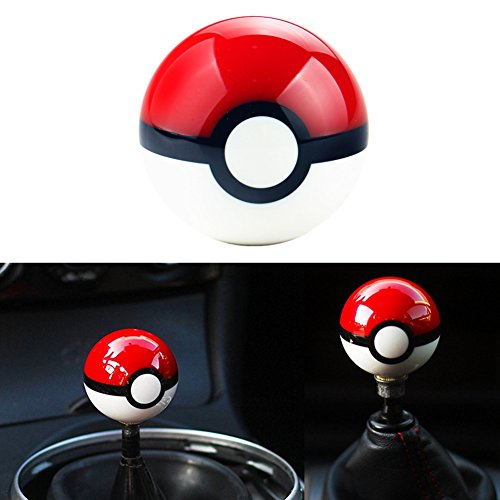 DEWHEL 55MM Pokeball Pikachu Poke Ball Manual Gear Shift Shifter knob JDM 4 5 6 Speed Universal Round Fit for Honda Acura Mazda Mitsubishi Nissan Infiniti Lexus Toyota Scion BRZ Ford Jeep ()