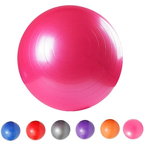 Saymequeen Anti-Burst Exercise Ball with Foot Pump for Adults Kids Balance Workout Fitness Yoga Ball 45cm/55cm/65cm/75cm