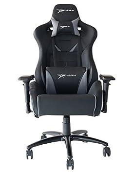 Ewin silla Flash XL Serise ergonómico silla de oficina ordenador Gaming con pillows-flb (negro/gris: Amazon.es: Oficina y papelería