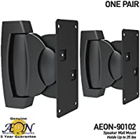 Heavy Duty Speaker Wall Mount - For Bookshelf, Large or Small Speakers