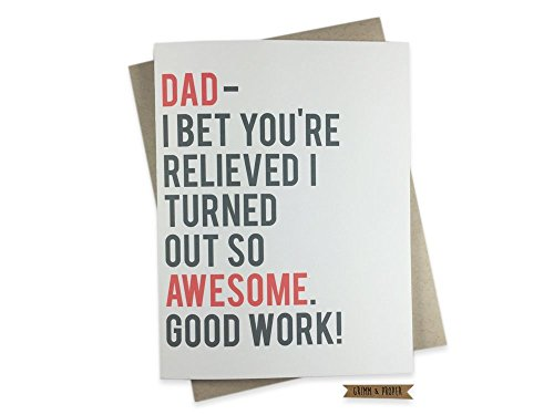 Father's Day Greeting Card with Optional Custom Interior Message
