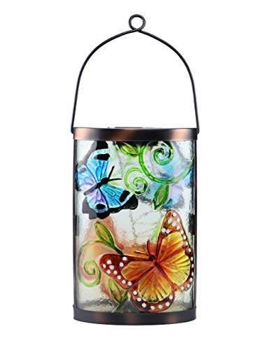 - MUMTOP Solar Lantern Lights Garden Hanging Butterfly Retro Solar Table Lamp Lantern LED Decorative Light