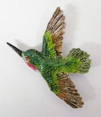 Pintado de~~~del imán del refrigerador de colibrí BP104PRM: Amazon ...