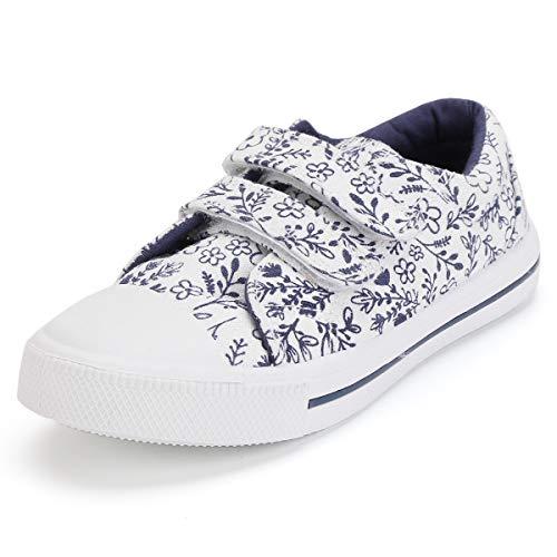 KomForme Toddler Girls Sneakers Cartoon Dual Hook and Loops Sneakers Baby Canvas Shoes