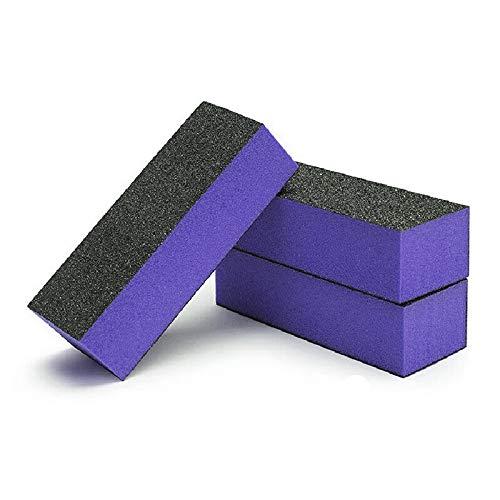 U Beauty Sanding Buffing Block Nail Files Pedicure Manicure File (Black Purple) Nail Polisher Polish Buffer 10 PCS