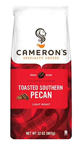 Bean Pecan Whole - Cameron's Coffee Roasted Whole Bean Coffee, Flavored, Toasted Southern Pecan, 32 Ounce
