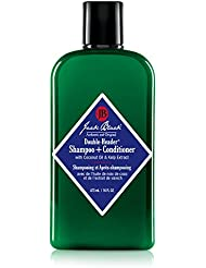 JACK BLACK - Double-Header Shampoo + Conditioner - PureScience Formula, Coconut Oil and Kelp Extract, Sulfate-Free, Removes Oil and Product Buildup, Lightly Conditions and Soothes, 16 oz.
