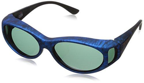 Cocoons Streamline SM Oval Polarized Sunglasses,Ink Frame & Gray Lens,56 mm (Streamline Polarized Sunglasses)