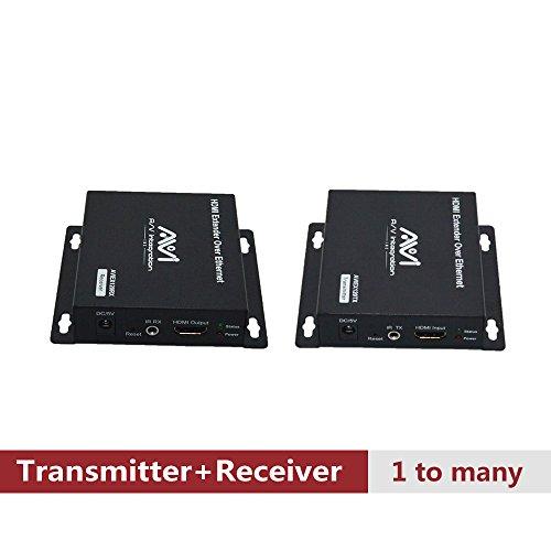 Matrix A/v Switcher (AVISHOP Unlimited N x N HDMI Extender Over Ethernet Cat6 Extender Matrix 12X12 8X8 Switch Switcher Extender by Single Ethernet Cable up to 400ft (Transmitter + Receiver)…)