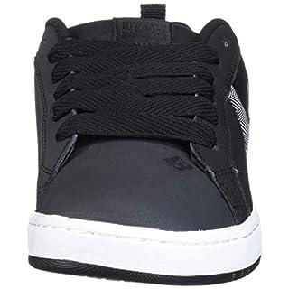 DC Men's Court Graffik XE Skate Shoe, Black/Heather Grey, 18 D M US