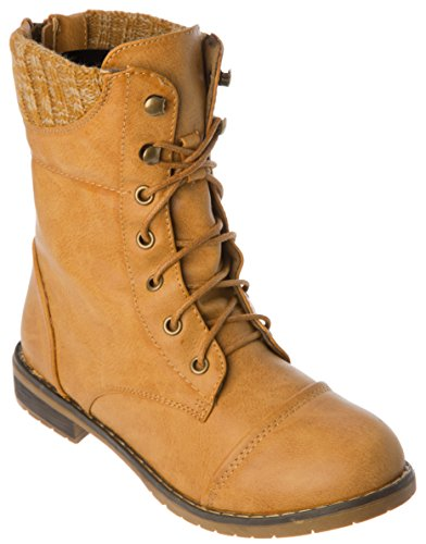 Mid Casual Modern Combat Western Fashion Ankle Womans Shoes Boots Calf Weat OTH0nEqw