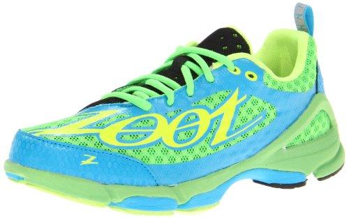Zoot Womens W Tt Trainer 2.0 Scarpa Da Corsa Verde Lampo / Blu Atomico / Sicurezza