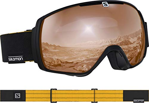 SALOMON XT One Access Ski Goggles, Black Saffron/Universal Tonic Orange