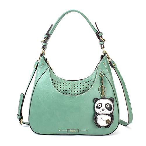 Shoulder Tote Purse Hobo gift Coin Panda Crossbody Teal Green Bag Sweet qnwfvdOYxq