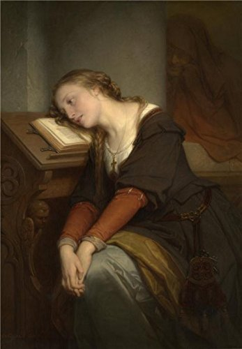 [The High Quality Polyster Canvas Of Oil Painting 'Nicaise De Keyser - Saint Margaret, 1864' ,size: 8x12 Inch / 20x29 Cm ,this Best Price Art Decorative Prints On Canvas Is Fit For Gift For Girl Friend And Boy Friend And Home Artwork And Gifts] (Romanticism Theatre Costumes)