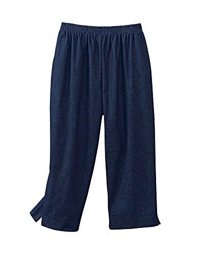 Spring Capri Jeans - Alfred Dunner Womens Plus Denim Jean Capri, Blue, 22W