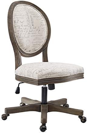 Linon Home D cor OC098SCPT01U Brea Script Office Chair