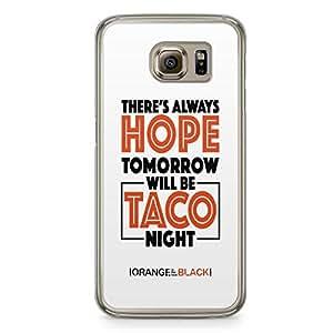 Samsung Galaxy S6 Transparent Edge Case Orange Is The New Black Hope Taco Night OITNB