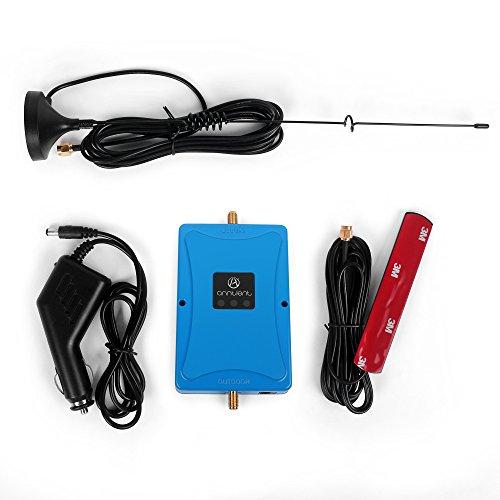 ANNTLENT Amplificador de la señal del repetidor del teléfono móvil 900/2100MHz para el amplificador del vehículo 2G 3G Banda 8, uso de la venda 1 para el coche/el carro/el barco/VR