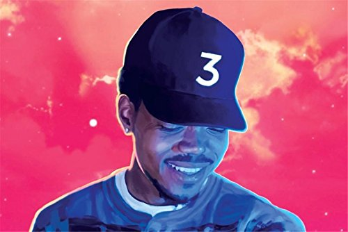 Botrong Chance The Rapper Poster 24in x 36in Coloring Book Rapper Singer
