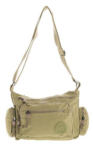 1 cruzados Bolso Camel Handbag Shop Messenger tela de Style mujer para Big CqvZwtxE