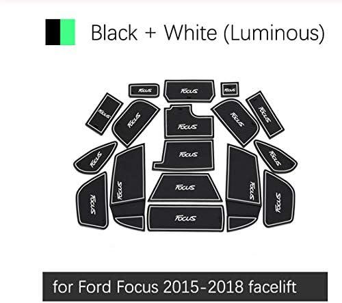 linfei Tapis Antid/érapant en Caoutchouc De Tasse De Fente De Porte pour Ford Focus 2015-2018 Accessoires Autocollants De Voiture