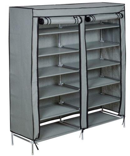 Amazon New 6 Tier 2 Rows Doors Large Shoe Cabinet Rack Shoes